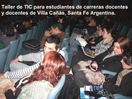 Nueva capacitación para docentes en Villa Cañás, Santa Fe, Argentina.