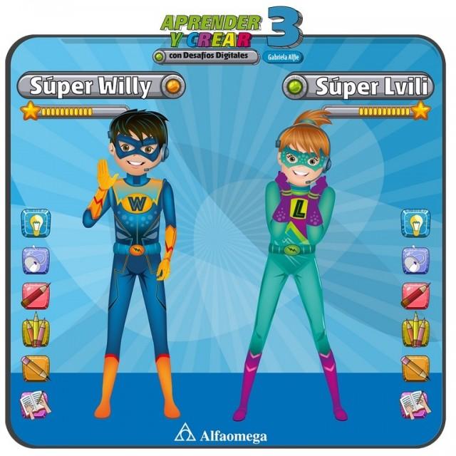 Personajes de la nueva serie Desafíos Digitales