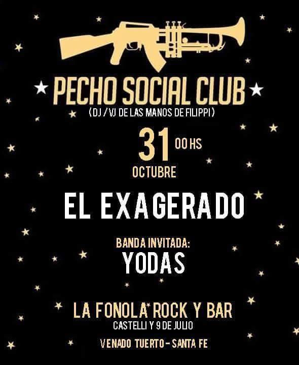 EL EXAGERADO Y YODAS EN LA FONOLA, La fonola Rock & Bar , venado tuerto