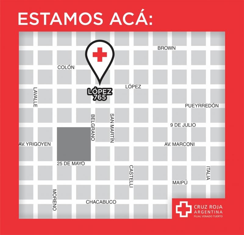ESTAMOS ACA, CRUZ ROJA ARGENTINA FILIAL VENADO TUERTO, venado tuerto
