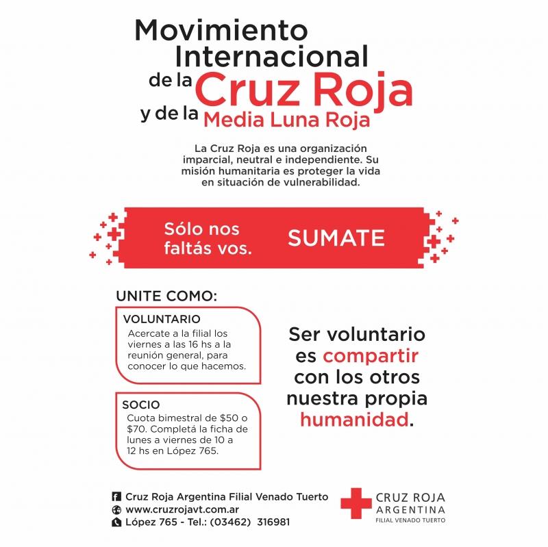 SUMATE SOLO NOS FALTAS VOS, CRUZ ROJA ARGENTINA FILIAL VENADO TUERTO, Venado Tuerto