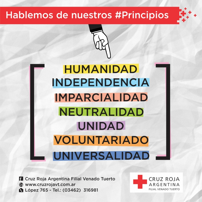 HABLEMOS DE NUESTROS PRINCIPIOS, CRUZ ROJA ARGENTINA FILIAL VENADO TUERTO, Venado Tuerto