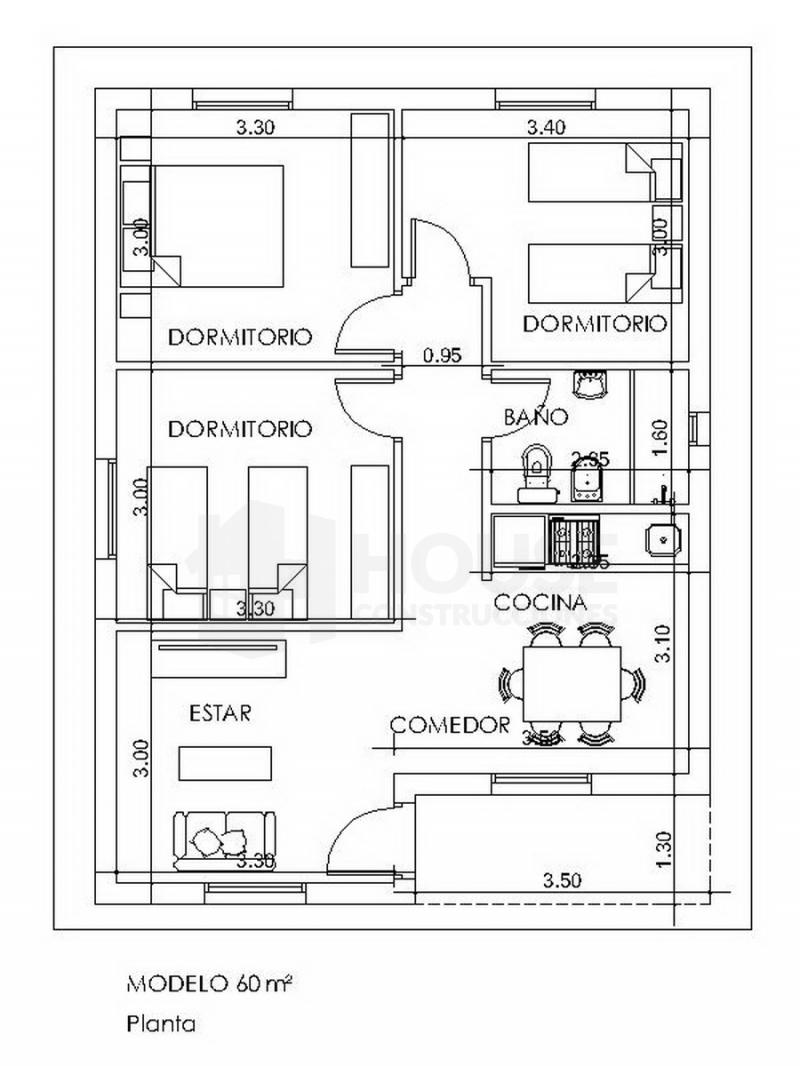 MODELO 60 M, House Construcciones, venado tuerto