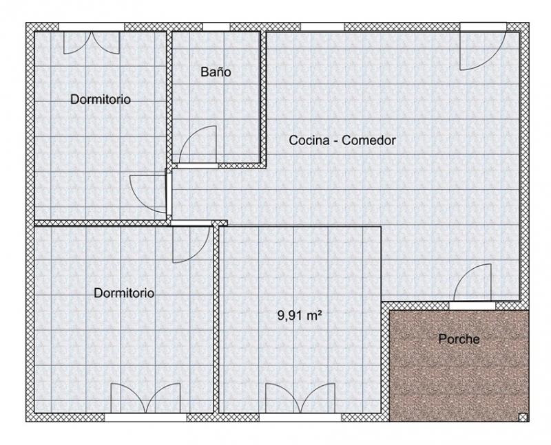 PLANO 58MT, Casas Sofia, venado tuerto
