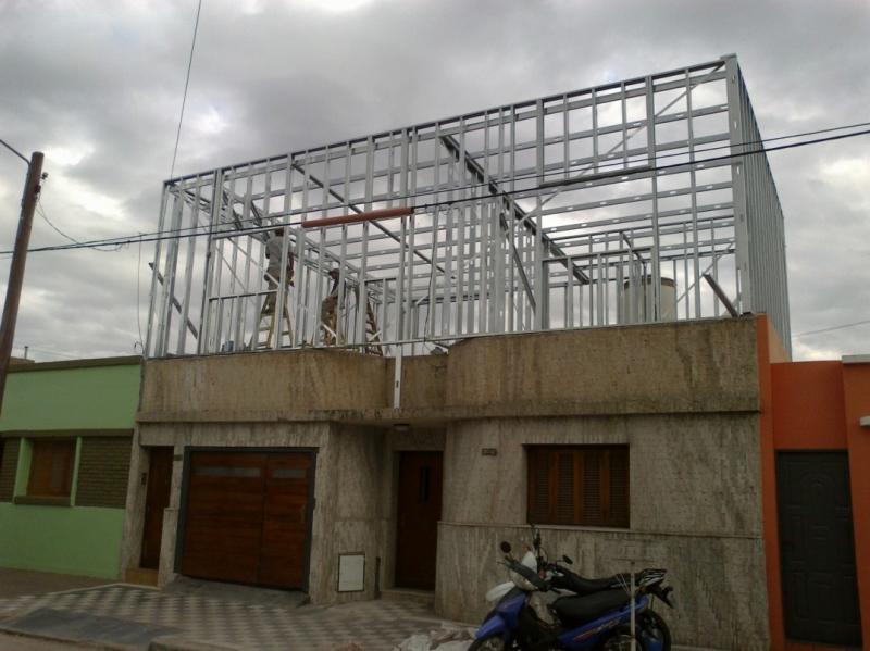 CONSTRUCCION SUPERFICIE AEREA STEEL FRAMMING, Obras Moraglio, venado tuerto