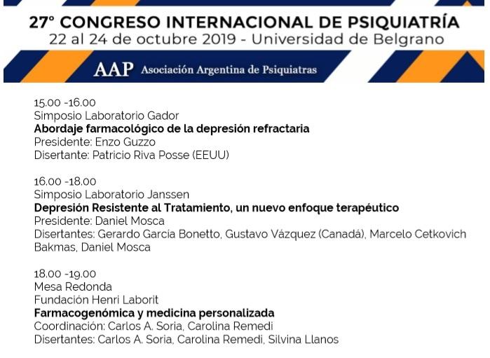 27° CONGRESO INTERNACIONAL DE PSIQUIATRíA, Silvina Llanos, córdoba