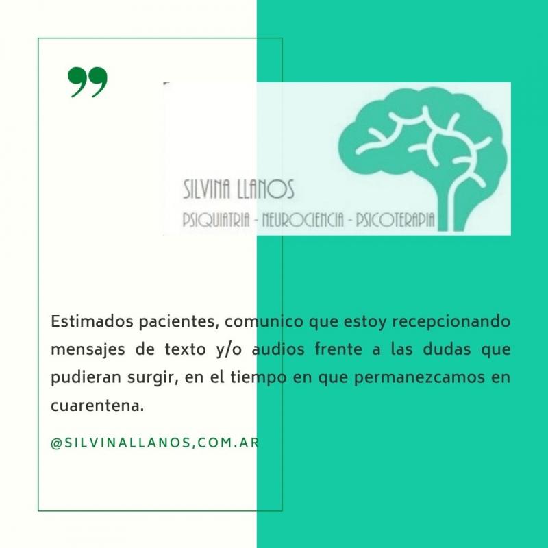 COVID-19 - atencion Virtual, Silvina Llanos, córdoba